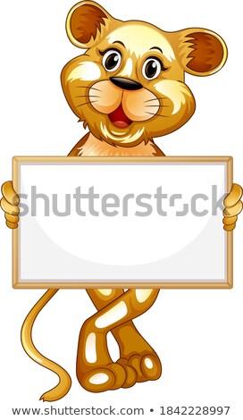 Nota modello selvatico tigre illustrazione natura Foto d'archivio © bluering