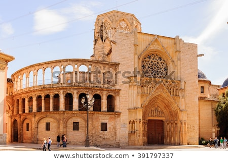 Bazilika hölgy Valencia Spanyolország templom romok Stock fotó © borisb17