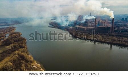 Gyár kémény füst illusztráció terv művészet Stock fotó © bluering