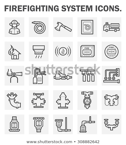 Chemical Extinguisher Icon Vector Outline Illustration Stock photo © pikepicture