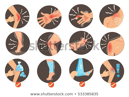Mains doigt commune douleur illustration main Photo stock © lenm