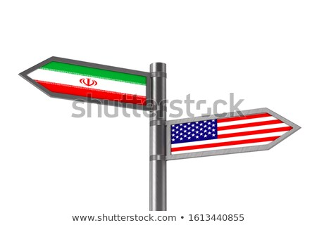 Relationship between America and Iran on white background. Isola Stock photo © ISerg