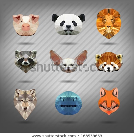 Vos stijl origami dier laag hoofd Stockfoto © wywenka