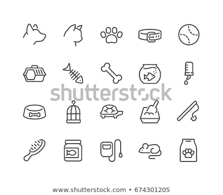 Pet Cage Icon Vector Outline Illustration Stock photo © pikepicture