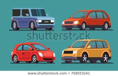 Yellow SUV car vector illustration on white background Stock photo © YuriSchmidt