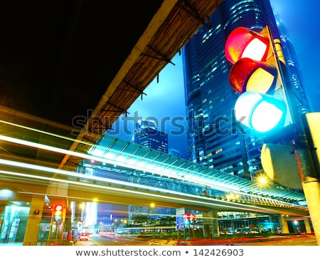 Paisaje urbano carretera semáforo carretera calle cebra Foto stock © robuart