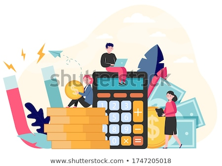 Worker Attracting Money, Finance Strategy Vector Stock photo © robuart