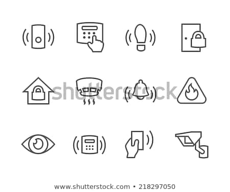 Smoke Alarm Detector Icon Outline Illustration Stock photo © pikepicture