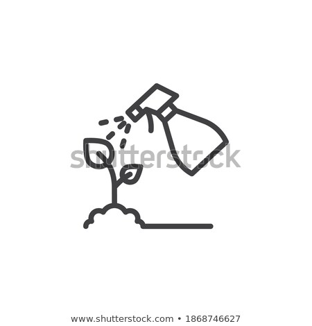 スプレー 工場 葉 アイコン ベクトル ストックフォト © pikepicture