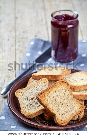Tost tahıl ekmek dilimleri ev yapımı kiraz Stok fotoğraf © marylooo