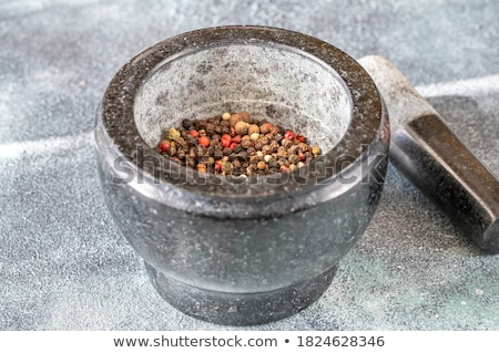 Grinding of peppercorn mix  Stock photo © Alex9500