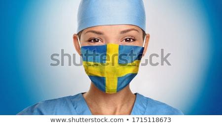 Suécia médico mulher cara máscara Foto stock © Maridav