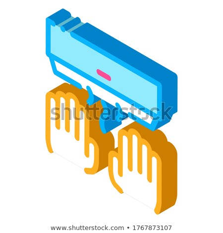 Hand Drying Air Wipe isometric icon vector illustration Stock photo © pikepicture