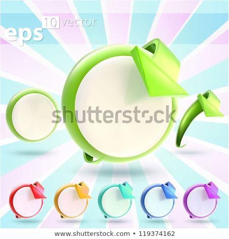 3d render of 6 round rainbow colored buttons Stock photo © Melvin07