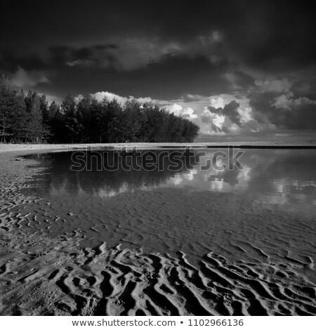 noite · longa · exposição · tiro · água · pôr · do · sol - foto stock © moses