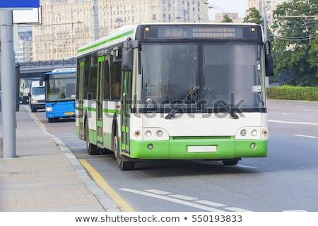 oude · groene · bus · vintage · geïsoleerd · witte - stockfoto © simplefoto