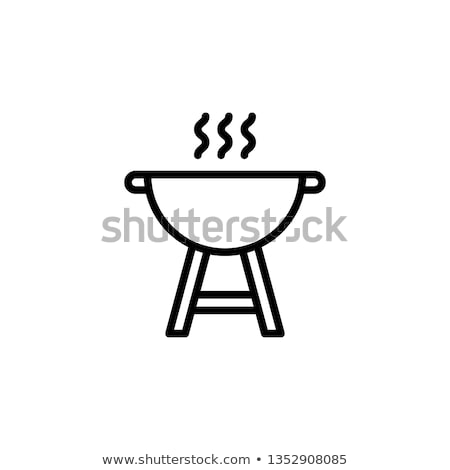 Barbeque icons Stock photo © sifis