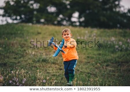 descuidado · menino · amarelo · grama · prado · outono - foto stock © paha_l