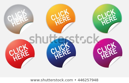 big blue and orange click here buttons stock photo © orson