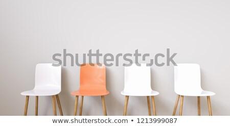 Vazio laranja cadeiras sentar-se concreto Foto stock © eyeidea