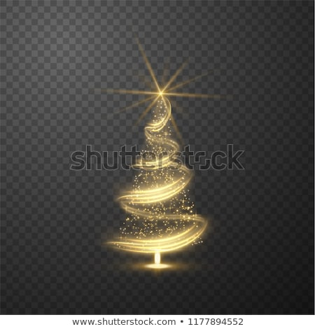 Foto stock: Glowing Christmas Tree