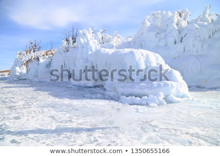 snowy winter mountains abstact water stock photo © photocreo