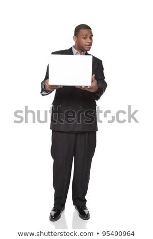 affaires · regarder · ordinateur · portable · isolé - photo stock © dgilder