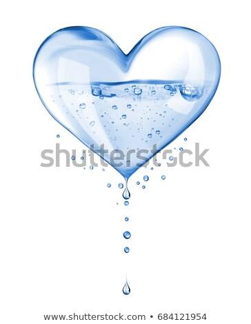 сердце · капли · воды · любви · свет · фон · красоту - Сток-фото © marinini