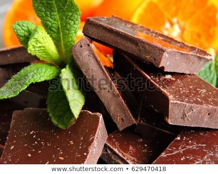 мандарин апельсинов шоколадом мнение оранжевый темный шоколад Сток-фото © klsbear