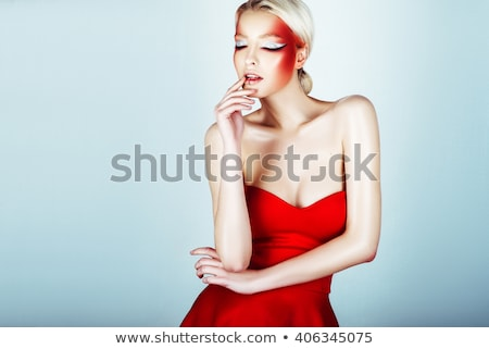 High fashion vrouw piercing ogen Stockfoto © tobkatrina