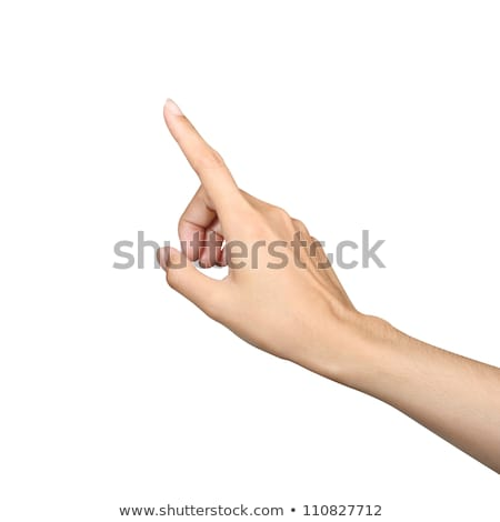 woman finger pointing Stock photo © lubavnel