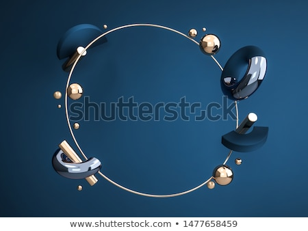 set of horizontal banners with 3d circles stock photo © orson