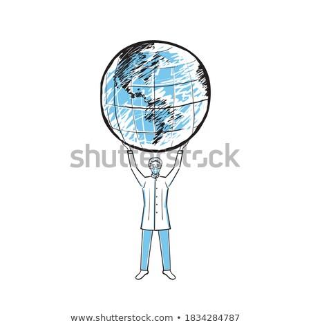 planeet · gezondheid · portret · meisje · aarde · stethoscoop - stockfoto © photography33