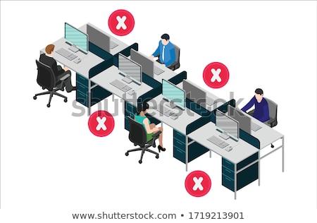 рабочая станция экране компьютера клавиатура вид сбоку компьютер работу Сток-фото © JohanH