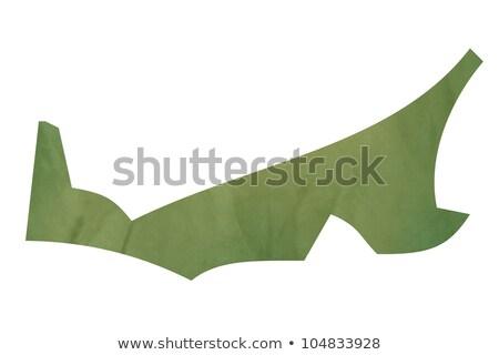 Isla del príncipe eduardo mapa verde papel Canadá edad Foto stock © speedfighter