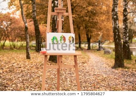 caballete · forestales · arte · espacio · información - foto stock © marimorena