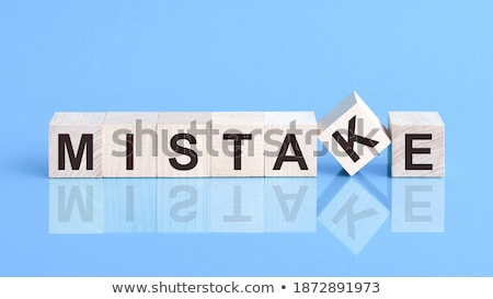 Blauw strategie glas blokken tekst 3D Stockfoto © marinini