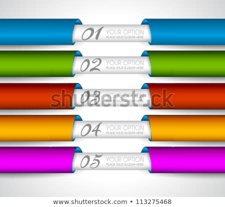 mordern realistic paper tags for products ranking stock photo © davidarts