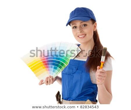 építőmunkás kiválaszt szerszám építkezés munka otthon Stock fotó © photography33