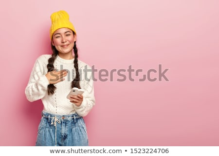 Stock photo: Woman with plaits