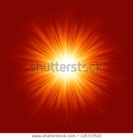 Star burst red and yellow fire. EPS 8 Stock photo © beholdereye