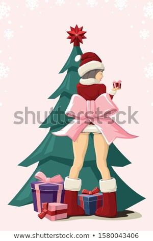 Klein christmas presenteert vallen hoed kleurrijk Stockfoto © Rob_Stark