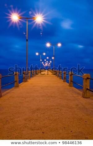 桟橋 ポルトガル 空 海 青 ストックフォト © Gbuglok