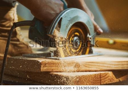 Stolarz pracy uśmiech szczęśliwy domu ramki Zdjęcia stock © photography33