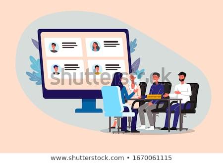 Entrevista painel escritório reunião empresário tabela Foto stock © photography33