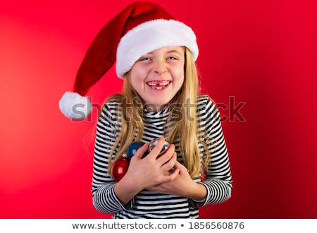 christmas blond beauty stock photo © carlodapino