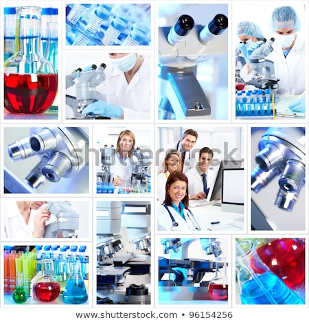 коллаж · ученого · лаборатория · рабочих · медицинской - Сток-фото © adam121