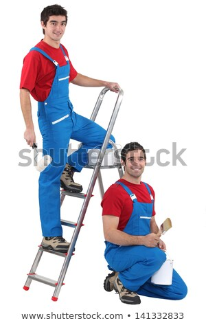 two male decorators wearing the same outfit stock photo © photography33