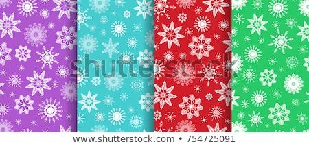 Seamless snowflakes winter background. Color patern. Stock photo © Stellis