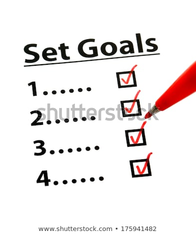 Set Goals Hand Red Marker Stock photo © ivelin